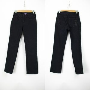 NYDJ Black Skinny Denim Jeans